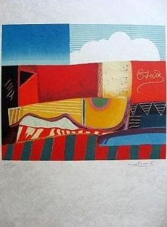 Lithograph Papart - Composition