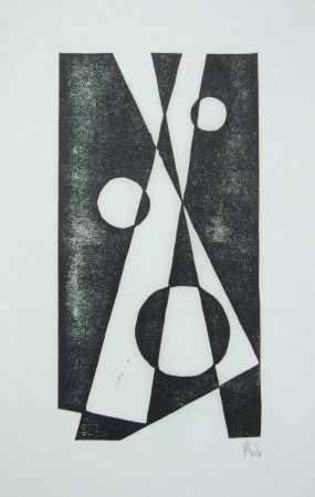 Woodcut Maatsch - Composition