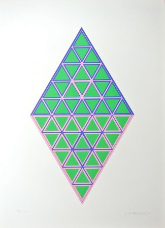 Lithograph Glattfelder - Composition