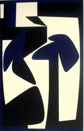 Screenprint Vasarely - Composition
