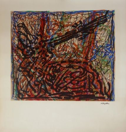 Lithograph Riopelle - Composition