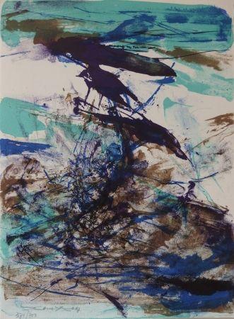 Linocut Zao - Composition