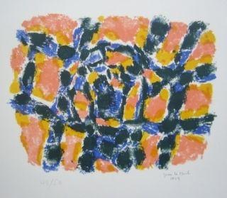 Lithograph Le Moal - Composition