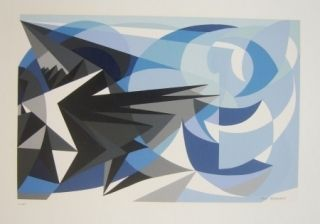 Screenprint Furbach - Composition