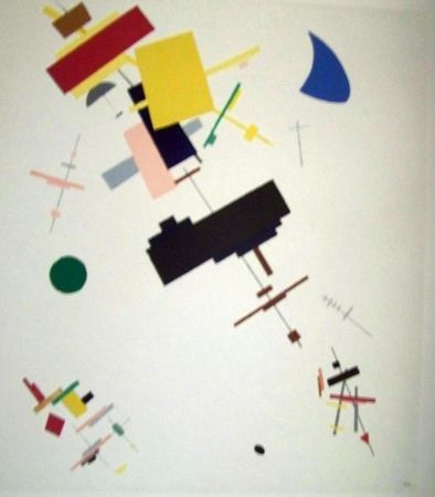 Lithograph Malevitch - Composition