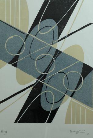 Lithograph Bozzolini - Composition