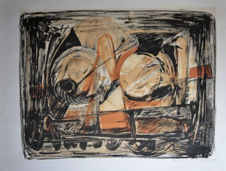 Lithograph Gillet - Composition
