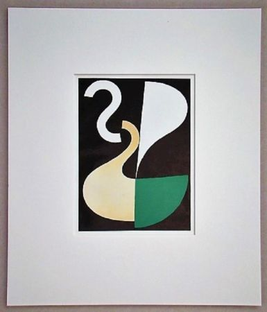 Lithograph Taeuber-Arp - Composition