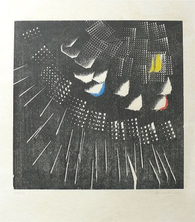 Lithograph Hartung - Composition