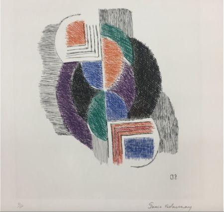 Etching Delaunay - Composition