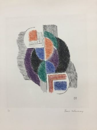 Engraving Delaunay - Composition