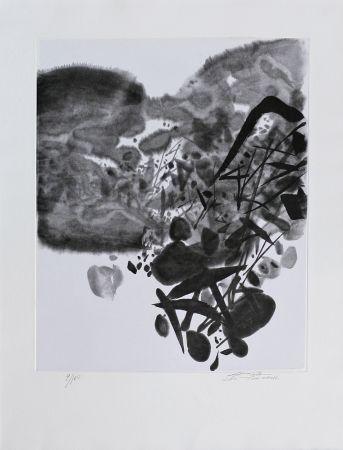 Lithograph Chu Teh Chun  - Composition