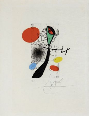 Etching Miró - Composition