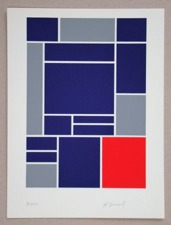 Screenprint Dubreuil - Composition