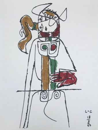 Lithograph Le Corbusier - Composition