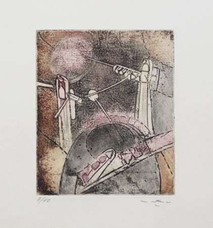 Etching And Aquatint Matta - Composition