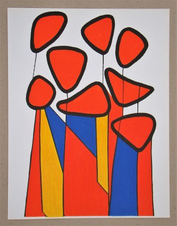 Lithograph Calder - Composition