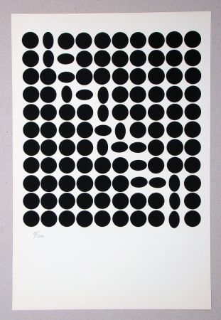 Screenprint Vasarely - Composition