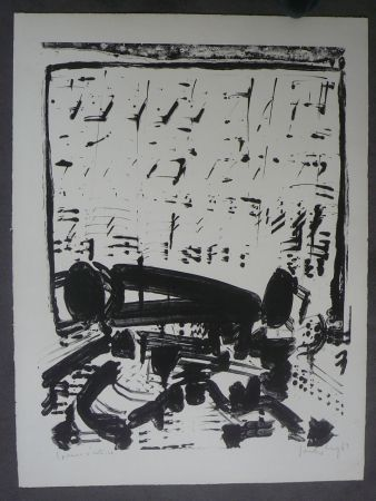 Lithograph Sonderborg - Composition,1963