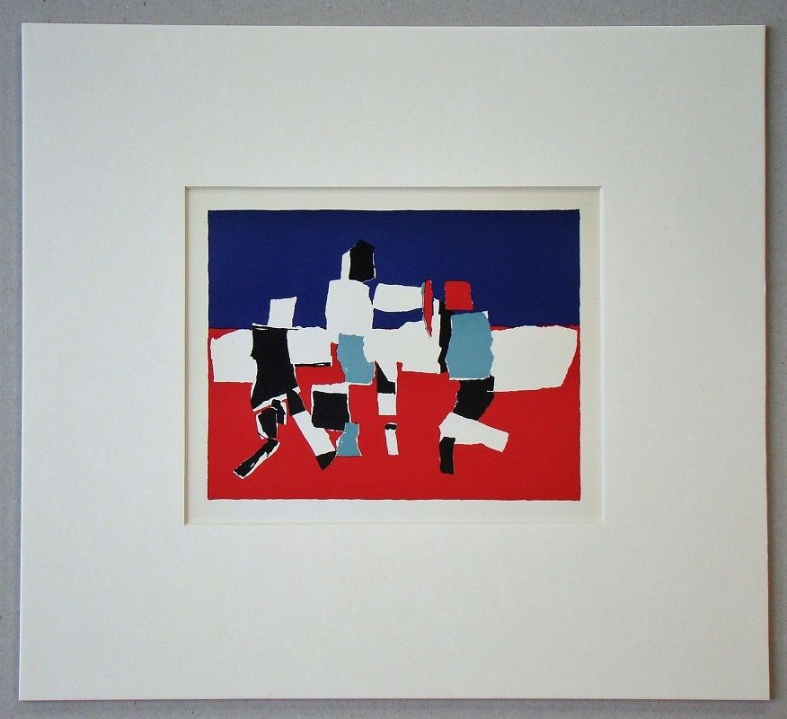 Lithograph De Stael - Composition - 1951