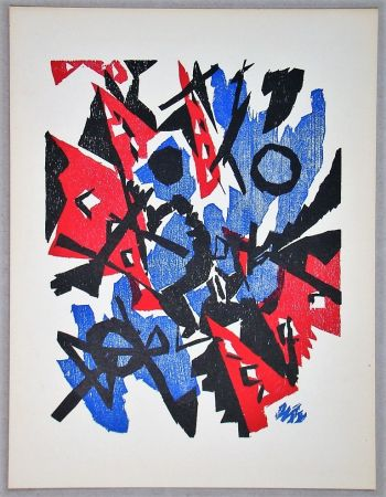 Woodcut Nay - Composition - 1953