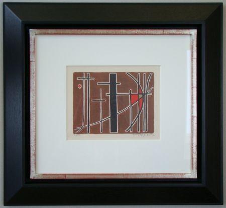 Lithograph Quentin - Composition - 1956