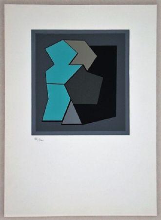 Screenprint Vasarely - Composition - Geh Durch Den Spiegel