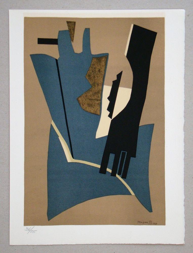 Lithograph Magnelli - Composition - Papier collé 1948