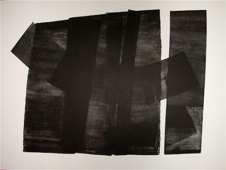 Lithograph Hartung - Composition 1