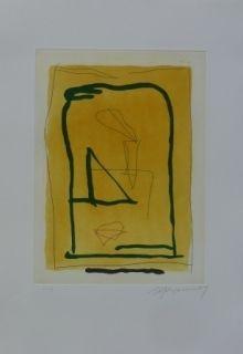 Etching And Aquatint Ràfols Casamada - Composition 11