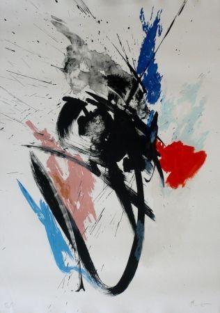Lithograph Miotte - Composition 110