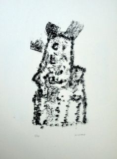 Lithograph Michaux - Composition 116