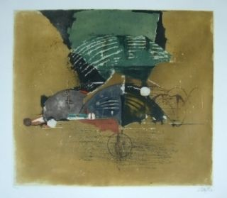 Lithograph Friedlaender - Composition 12