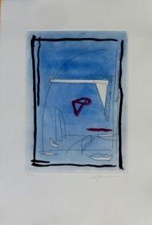 Etching And Aquatint Ràfols Casamada - Composition 12