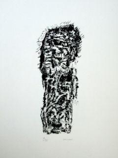 Lithograph Michaux - Composition 128