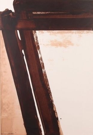 Screenprint Soulages - Composition 15