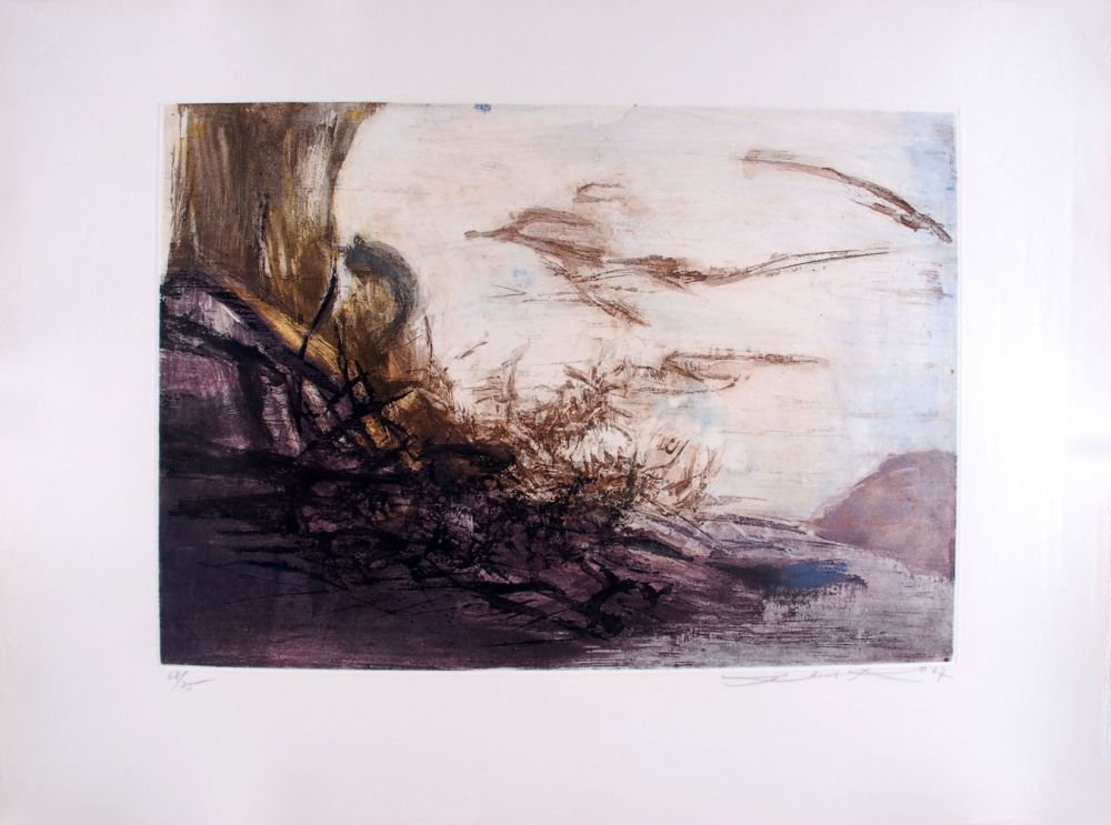 Etching And Aquatint Zao - Composition 172