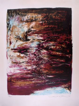 Lithograph Zao - Composition 182