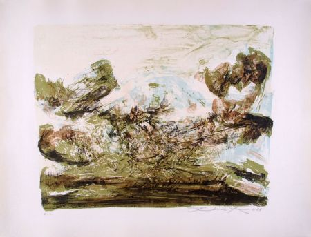 Lithograph Zao - Composition 185