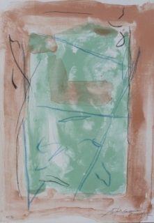 Lithograph Ràfols Casamada - Composition  19