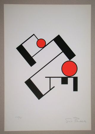 Screenprint Buchholz - Composition, 1920