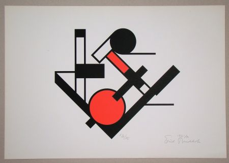 Screenprint Buchholz - Composition, 1921
