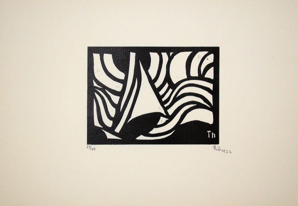 Woodcut Maatsch - Composition, 1922