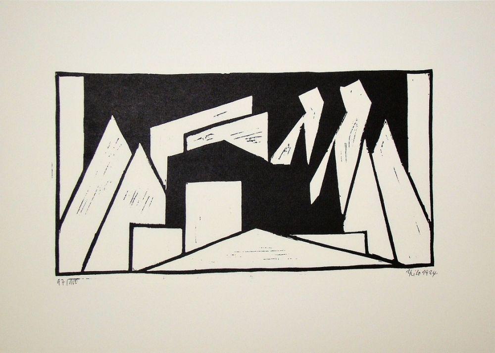 Woodcut Maatsch - Composition, 1924