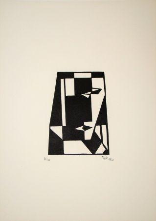 Woodcut Maatsch - Composition, 1926