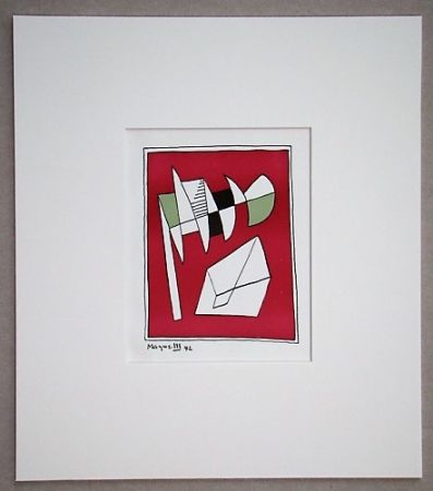 Lithograph Magnelli - Composition, 1942