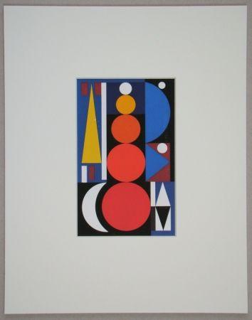Screenprint Herbin - Composition, 1949