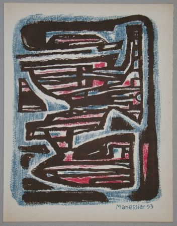 Lithograph Manessier - Composition, 1953