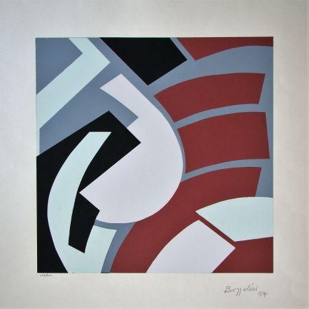 Screenprint Bozzolini - Composition, 1954