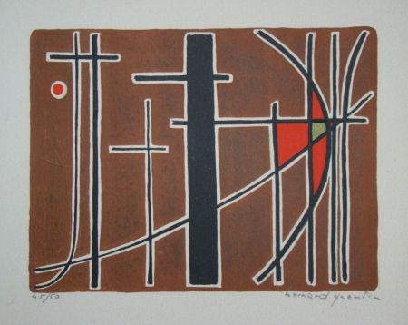 Lithograph Quentin - Composition, 1956